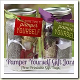 Pamper-Yourself-Gifts-in-a-Jar-Ideas from The Frugal Girls | Frugal Handmade Gift Ideas | Frugal and Thriving