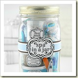 Spa in a Jar from The Gunny Sack | Frugal Handmade Gift Ideas | Frugal and Thriving