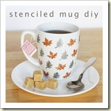 Stenciled Mug from Hands Occupied | Frugal Handmade Gift Ideas | Frugal and Thriving