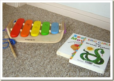 Visit the library for free toys and books, rainy day toddler ideas, Frugal and Thriving