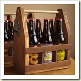 Wooden Beer Tote from The New Hobbyist | Frugal Gift Ideas | Frugal and Thriving
