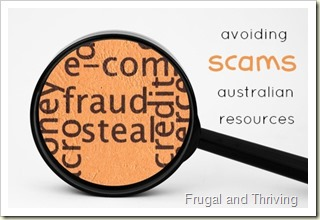 tips on avoiding scams and some Australian consumer resources