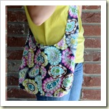 Sling bag Tutorial from Crap I've Made | 45 Awesome Free Bag Tutorials | Frugal and Thriving