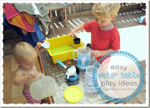 Easy frugal water table play