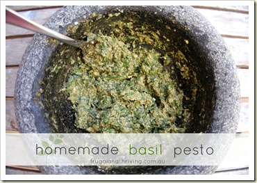 Homemade Basil Pesto Recipe | Frugal and Thriving