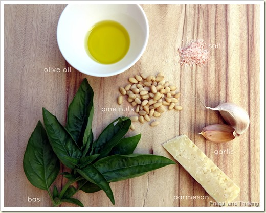 Pesto Ingredients | Homemade Pesto | Frugal and Thriving