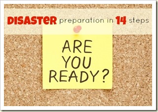 preparing your home {Disaster prep Day 6}