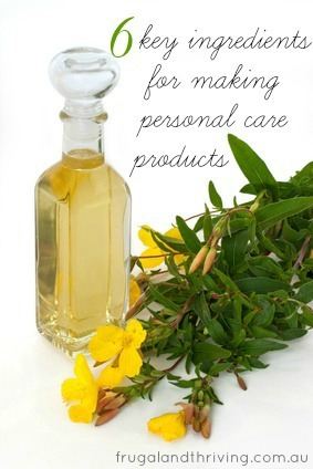 stocktake: key ingredients for making your own natural personal care products