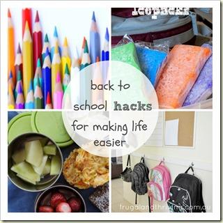 Back to School Hacks for Making Life Easier