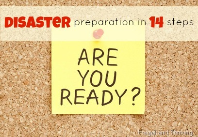 emergency cash {disaster prep day 12}