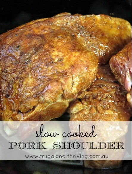 Slow Cooker Pulled Pork Shoulder
