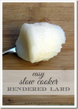 Easy Slow cooker Rendered Lard
