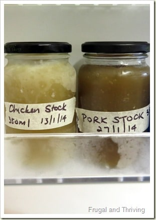 Homemade Frozen Stock | Frugal and Thriving