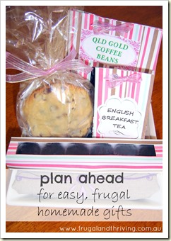 start planning your frugal and handmade gifts now