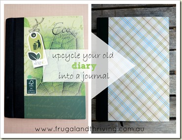 upcycle an old diary into a journal {tutorial}