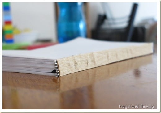 Upcycling an Old Diary to a Blank Notebook | Frugal and Thriving