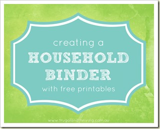 creating a household binder {emergency contacts printable}