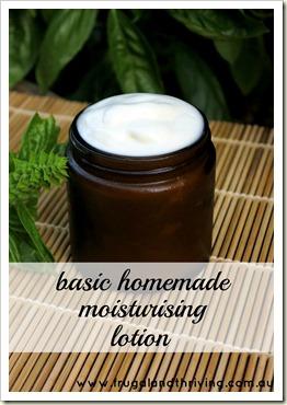 Basic homemade moisturising lotion