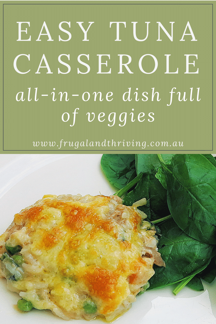 All-In-One Easy Tuna Casserole with lots of vegetables