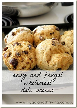 wholemeal date scones