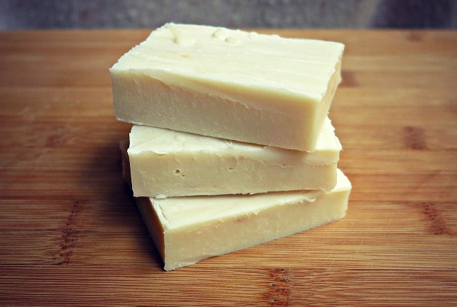 homemade old-fashioned lard soap from home rendered lard