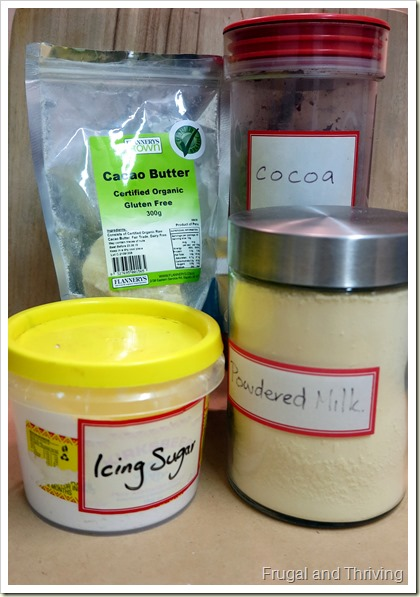 Homemade Chocolate Ingredients | Frugal and Thriving