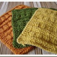 Basketweave Dishcloth