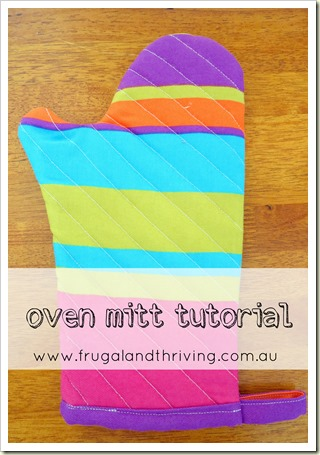 DIY Oven Mitt {tutorial}