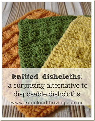 the upside of washing dishes – knitted dishcloths