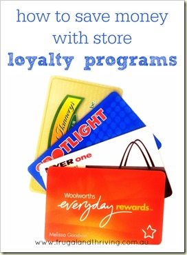 How to save money with store loyalty programs | Frugal and Thriving