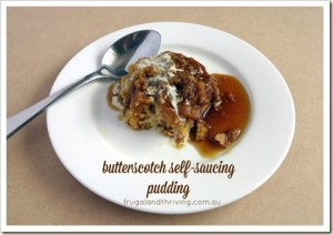frugal dessert from the pantry: butterscotch self - saucing pudding