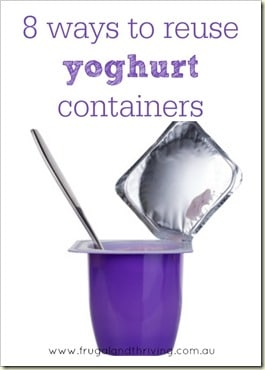 reusing yoghurt containers