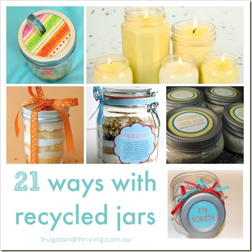 ways with recycled glass jars roundup
