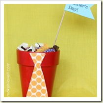 Candy filled tie pot from Make It Love It | Frugal and Thriving Round Up