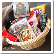 Couch Potato hamper from Darling Doodles | Frugal and Thriving