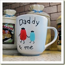 Daddy and Me Fingerprint Mug from Spoonful | Frugal and Thriving Round Up