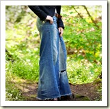 Denim maxi skirt from Trinkets in Bloom | Frugal and Thriving