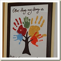 Family Handprint Tree from Naptime Decorator | Frugal and Thriving Round-Up