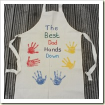 Father's Day Apron from Let Kids Be Kids | Frugal and Thriving Round Up