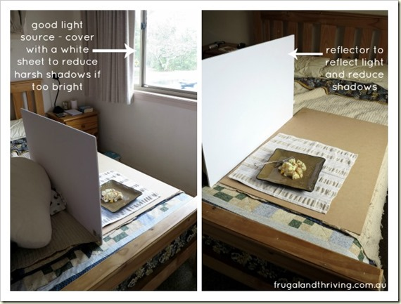 Frugal food photography - the set up