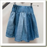 Jeans to twirly skirt from Shelly Made   Frugal and Thriving