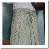 Layered wrap skirt from Sew a Straight Line   Frugal and Thriving