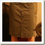 Mans shirt skirt from Recycled Lovelies | Frugal and Thriving
