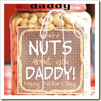 Nuts about Daddy from Liz on Call | Frugal and Thriving Father's Day Round Up