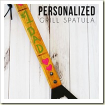 Personalised Grill Spatula from Tidy Mom | Frugal and Thriving Round Up