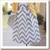 Pleated Chevron Skirt from Sewing in No Mans Land | Frugal and Thriving