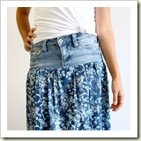 Repurposed skirt from Art Gallery Fabrics | Frugal and Thriving
