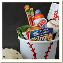 Sports Themed Bucket from Hoosier Homemade | Frugal and Thriving Round Up