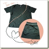 T-shirt to skirt from Out of Order Design | Frugal and Thriving