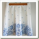 Tablecloth skirt from V and Co. | Frugal and Thriving